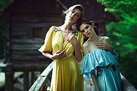 Daniel Ilinca photographer (fotograf). Work by photographer Daniel Ilinca demonstrating Fashion Photography.Campaign for the SIN CITY collection by Rozalia Bot.Art director: Alin GalatescuModels: Aisii and Claudia MarusaniciMake-up: Mirela FazakasH