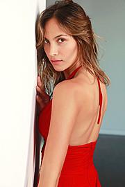 Daniela Chalbaud model. Photoshoot of model Daniela Chalbaud demonstrating Face Modeling.Face Modeling Photo #185954