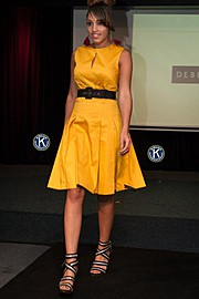 Daniella Warnett model. Photoshoot of model Daniella Warnett demonstrating Runway Modeling.Runway Modeling Photo #93599