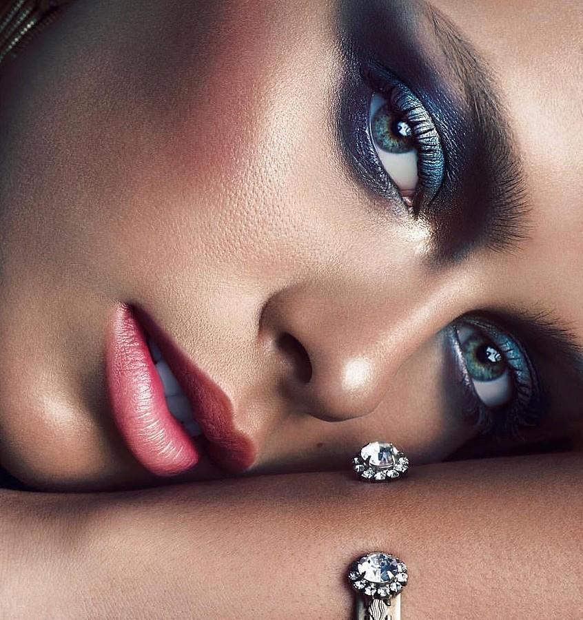 Daria Pershina model (Дарья Першина модель). Photoshoot of model Daria Pershina demonstrating Face Modeling.Face Modeling Photo #185086