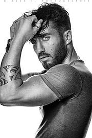 David Lerebourg model (modèle). Photoshoot of model David Lerebourg demonstrating Face Modeling.Face Modeling Photo #91569