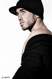 David Lerebourg model (modèle). Photoshoot of model David Lerebourg demonstrating Face Modeling.Face Modeling Photo #91581