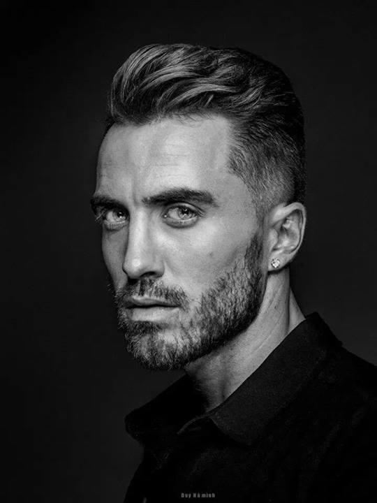 David Lerebourg model (modèle). Photoshoot of model David Lerebourg demonstrating Face Modeling.Face Modeling Photo #91582