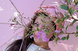 Demetra Diorietes model. Photoshoot of model Demetra Diorietes demonstrating Face Modeling.Face Modeling Photo #91297