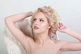 Dimitra Tisel model (Δήμητρα Τισελ μοντέλο). Photoshoot of model Dimitra Tisel demonstrating Face Modeling.Make up artist: #MariaVarytiFace Modeling Photo #161428