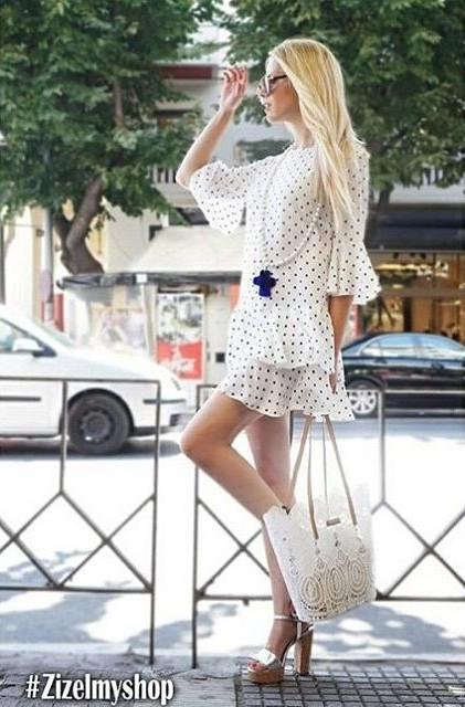 Dimitra Tisel model (Δήμητρα Τισελ μοντέλο). Photoshoot of model Dimitra Tisel demonstrating Fashion Modeling.brand: zizel my shopFashion Modeling Photo #175204