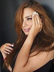 Dina Adel model. Photoshoot of model Dina Adel demonstrating Face Modeling.Face Modeling Photo #218100