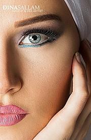 Dina Sallam makeup artist veil designer. Work by makeup artist Dina Sallam demonstrating Beauty Makeup.Beauty Makeup Photo #71075