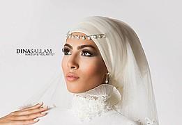 Dina Sallam makeup artist veil designer. Work by makeup artist Dina Sallam demonstrating Beauty Makeup.Beauty Makeup Photo #71076