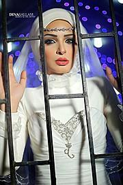 Dina Sallam makeup artist veil designer. Work by makeup artist Dina Sallam demonstrating Beauty Makeup.Beauty Makeup Photo #71078