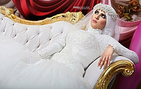 Dina Sallam makeup artist veil designer. Work by makeup artist Dina Sallam demonstrating Fashion Makeup.Fashion Makeup Photo #71080
