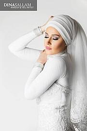 Dina Sallam makeup artist veil designer. Work by makeup artist Dina Sallam demonstrating Beauty Makeup.Beauty Makeup Photo #71084
