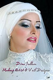 Dina Sallam makeup artist veil designer. Work by makeup artist Dina Sallam demonstrating Beauty Makeup.Beauty Makeup Photo #71087