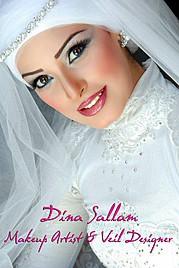 Dina Sallam makeup artist veil designer. Work by makeup artist Dina Sallam demonstrating Beauty Makeup.Beauty Makeup Photo #71088