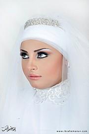 Dina Sallam makeup artist veil designer. Work by makeup artist Dina Sallam demonstrating Beauty Makeup.Beauty Makeup Photo #71091