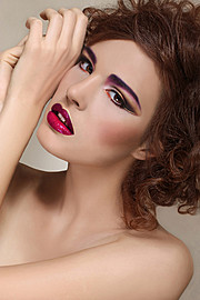 Dobrawa Zowislo (Dobrawa Zowisło) model & blogger. Dobrawa Zowislo demonstrating Face Modeling, in a photoshoot with Makeup done by Klaudia Klos.makeup klaudia klosFace Modeling Photo #104069