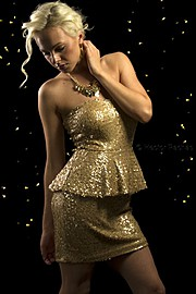 Dominika Fronckiewicz model. Photoshoot of model Dominika Fronckiewicz demonstrating Fashion Modeling.Dior Jadore Golden Girl Photo by: Hector PachasMUA: Tina Raus WardHair: Ivan Hernandez LainesFashion Modeling Photo #96696
