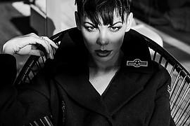 Dorka Banki model. Photoshoot of model Dorka Banki demonstrating Face Modeling.Face Modeling Photo #196441