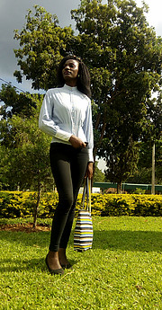 Doublyn Awuor model. Photoshoot of model Doublyn Awuor demonstrating Fashion Modeling.Fashion Modeling Photo #207033