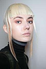 Efstathia Andreou makeup artist (μακιγιέρ). Work by makeup artist Efstathia Andreou demonstrating Beauty Makeup.Grinko Milan Fashion Week AW17Beauty Makeup Photo #186725