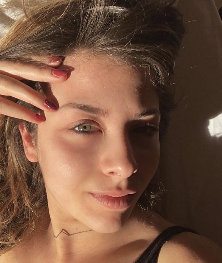 Efthymia Stafyla model (modell). Photoshoot of model Efthymia Stafyla demonstrating Face Modeling.Face Modeling Photo #204575
