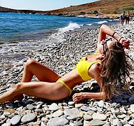 Eirini Strati model (μοντέλο). Photoshoot of model Eirini Strati demonstrating Body Modeling.Body Modeling Photo #224074