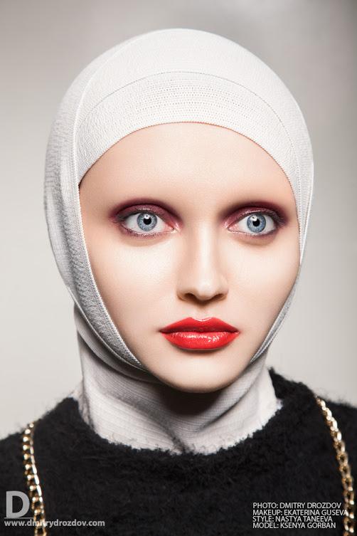 Ekaterina Guseva makeup artist (Екатерина Гусева визажист). Work by makeup artist Ekaterina Guseva demonstrating Beauty Makeup.VeilPortrait Photography,Beauty Makeup Photo #57695