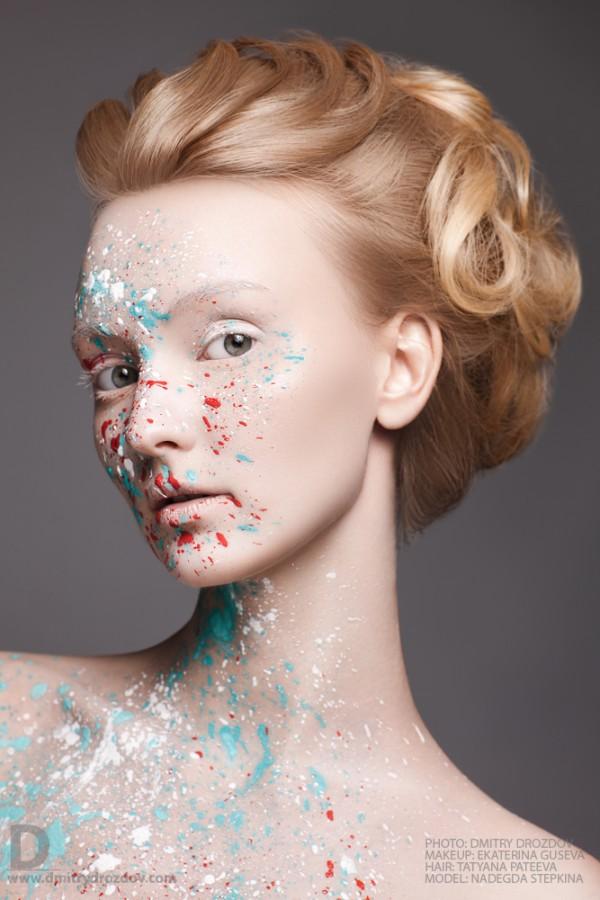 Ekaterina Guseva makeup artist (Екатерина Гусева визажист). Work by makeup artist Ekaterina Guseva demonstrating Creative Makeup.Portrait Photography,Creative Makeup Photo #57699