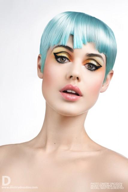 Ekaterina Guseva makeup artist (Екатерина Гусева визажист). Work by makeup artist Ekaterina Guseva demonstrating Creative Makeup.Hair ColoringPortrait Photography,Creative Makeup Photo #57703