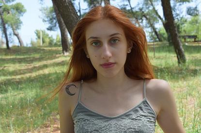 Elaera Sakellaropoulou model (μοντέλο). Photoshoot of model Elaera Sakellaropoulou demonstrating Face Modeling.Face Modeling Photo #231570
