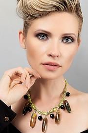 Elena Smirnova model (modèle). Photoshoot of model Elena Smirnova demonstrating Face Modeling.NecklaceFace Modeling Photo #193873