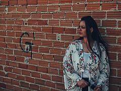 Eleni Palia model (Ελένη Παληά μοντέλο). Photoshoot of model Eleni Palia demonstrating Face Modeling.Face Modeling Photo #196896