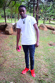 Elisha Mwangangi is a Kenyatta university student staying at Kahawa Sukari estate , 5.7