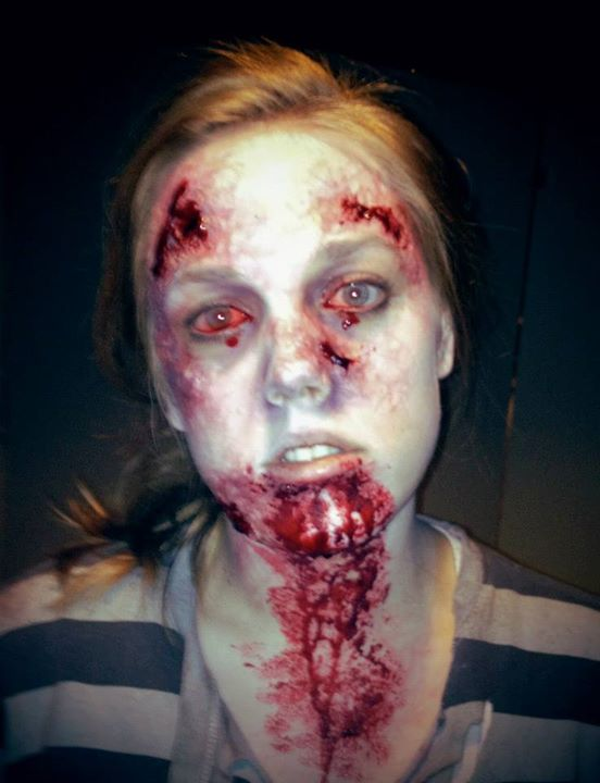 Elizabeth Mcleod makeup artist & hair stylist. Work by makeup artist Elizabeth Mcleod demonstrating Special Fx Makeup.Horror Film SFXSpecial Fx Makeup Photo #81876