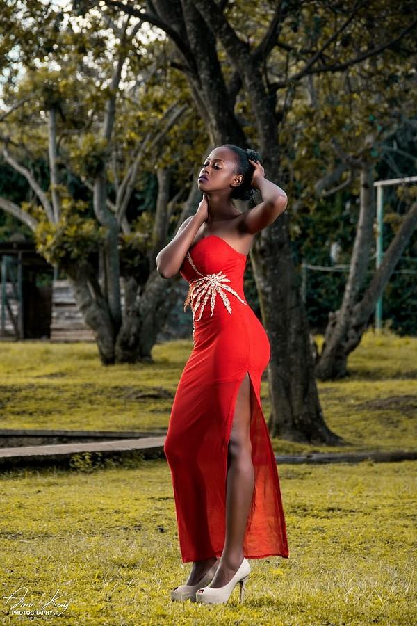 Elizabeth Njugi model. Photoshoot of model Elizabeth Njugi demonstrating Fashion Modeling.Elizabeth Njugi demonstrating a fashion modelling in a photoshoot by AmukayEvening DressFashion Modeling Photo #185271