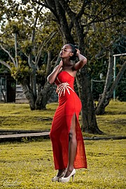 Elizabeth Njugi model. Photoshoot of model Elizabeth Njugi demonstrating Fashion Modeling.Elizabeth Njugi demonstrating a fashion modelling in a photoshoot by AmukayEvening DressFashion Modeling Photo #185271