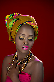 Elizabeth Njugi model, Antony Trivet creative stylish award winning. Photoshoot of model Elizabeth Njugi demonstrating Face Modeling.Elizabeth Njugi demonstrating face portrait by Anthony Trivet photographyMagazine Cover,Editorial,Ring,Head Scarf,A