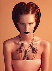 Elsa Canedo hair stylist. Work by hair stylist Elsa Canedo demonstrating Creative Hair Styling.Necklace,BraidsPortrait Photography,Beauty Makeup,Creative Hair Styling Photo #61130