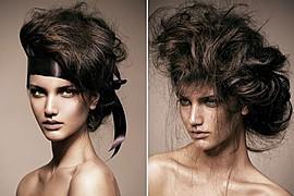 Elsa Jolie hair stylist (coiffeur). Work by hair stylist Elsa Jolie demonstrating Fashion Hair Styling.Fashion Hair Styling Photo #64334