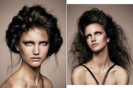 Elsa Jolie hair stylist (coiffeur). Work by hair stylist Elsa Jolie demonstrating Fashion Hair Styling.Fashion Hair Styling Photo #64335