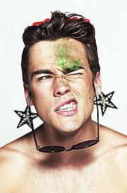 Erko Brandt model (modello). Photoshoot of model Erko Brandt demonstrating Face Modeling.Face Modeling Photo #104873