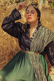Esraa Yahia model. Photoshoot of model Esraa Yahia demonstrating Face Modeling.Face Modeling Photo #232503