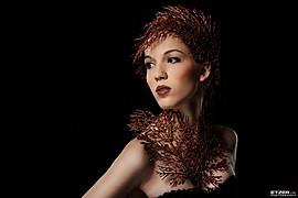 Eva Lilienthal model (modell). Photoshoot of model Eva Lilienthal demonstrating Face Modeling.Face Modeling Photo #85106