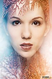 Eva Lilienthal model (modell). Photoshoot of model Eva Lilienthal demonstrating Face Modeling.Face Modeling Photo #85107