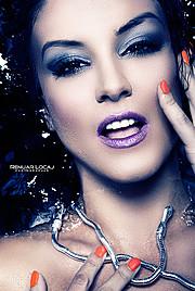 Floriana Garo model (modele). Photoshoot of model Floriana Garo demonstrating Face Modeling.Renuar LocajFace Modeling Photo #58798