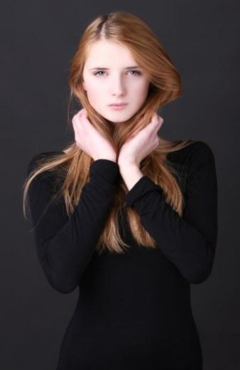 Gabyte Nagrockyte model (modella). Photoshoot of model Gabyte Nagrockyte demonstrating Face Modeling.Face Modeling Photo #84902