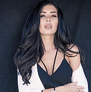 Gemma Lee Farrell model. Photoshoot of model Gemma Lee Farrell demonstrating Face Modeling.Face Modeling Photo #160291