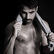 Giannis Efstathiou model (Γιάννης Ευσταθίου μοντέλο). Photoshoot of model Giannis Efstathiou demonstrating Face Modeling.Face Modeling Photo #174654