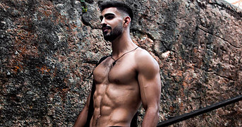Giorgos Kourtesis athlete. Photoshoot of model Giorgos Kourtesis demonstrating Body Modeling.Body Modeling Photo #217264