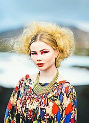Gunnhildur Birna makeup artist (sminka). Work by makeup artist Gunnhildur Birna demonstrating Creative Makeup in a photoshoot of Brynja G/Eskimo.Photo: Juila and Yuriy ManchikModel: Brynja G/Eskimo Hair: Katrin Sif JonsdottirMakeup: Gunnhildur Birn